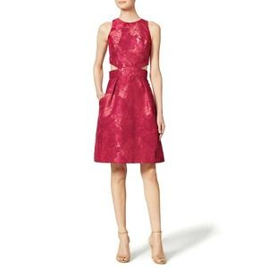 Theia Alexis Dress 8 Cutout Floral Jacquard A-Line